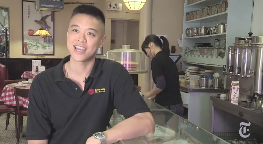 Wilson Tang is a second-generation American who is taking over ownership of the legendary Nom Wah Tea Parlor in Chinatown