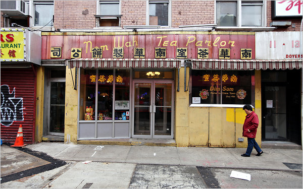 Nom Wah Tea Parlor on Doyers Street in Chinatown.