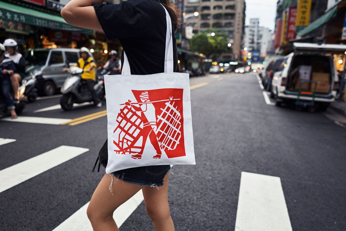 Canvas tote bag (Adam Lucas x Nom Wah)